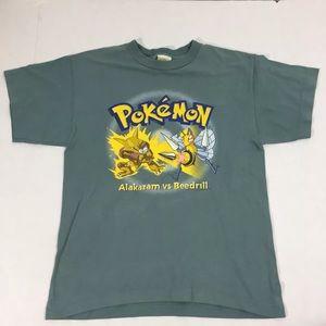 Vintage Pokémon Graphic Boys T Shirt 90's L